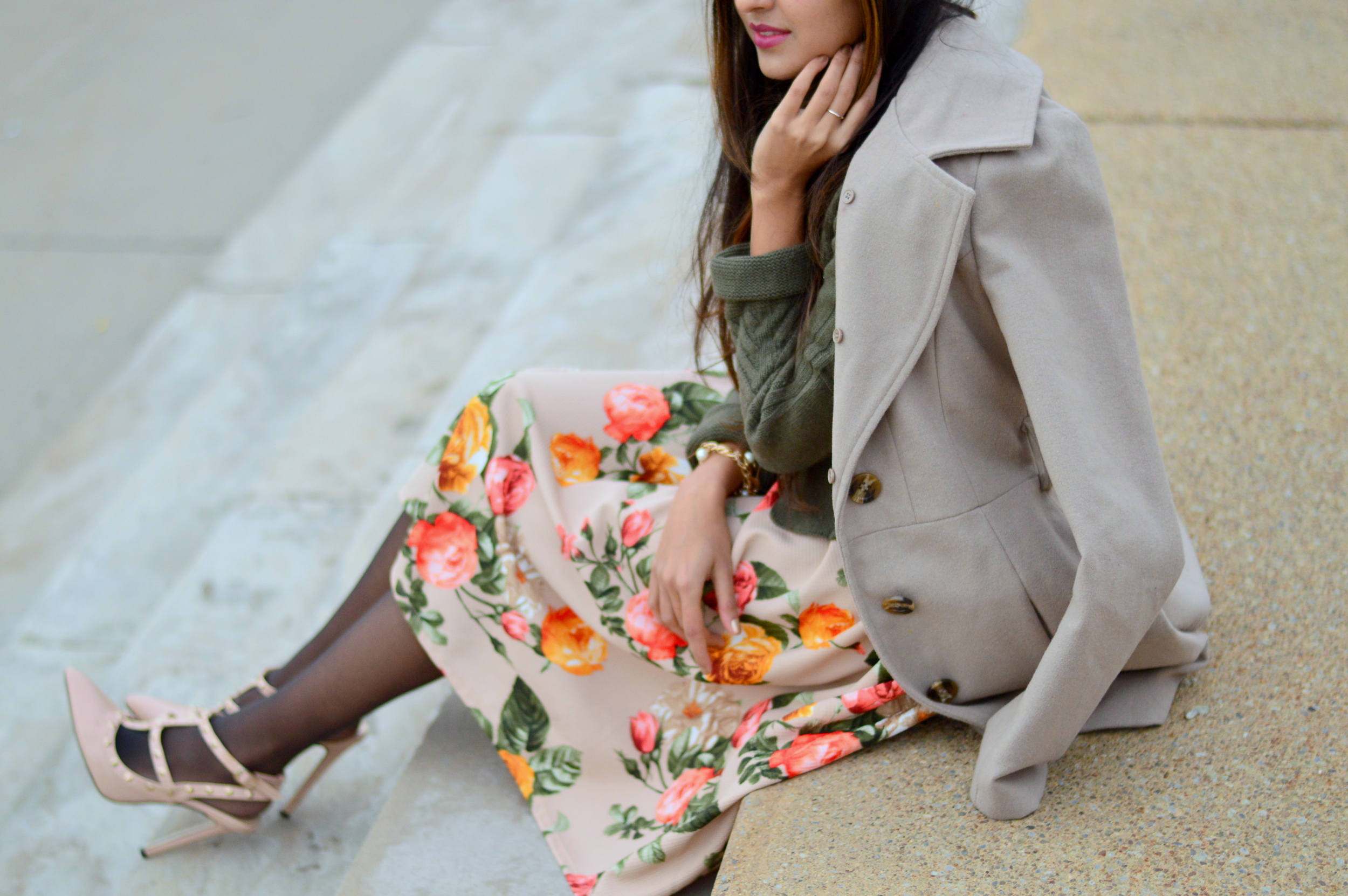 Floral Frock-Holiday Outfit-Hanes Hosiery 4