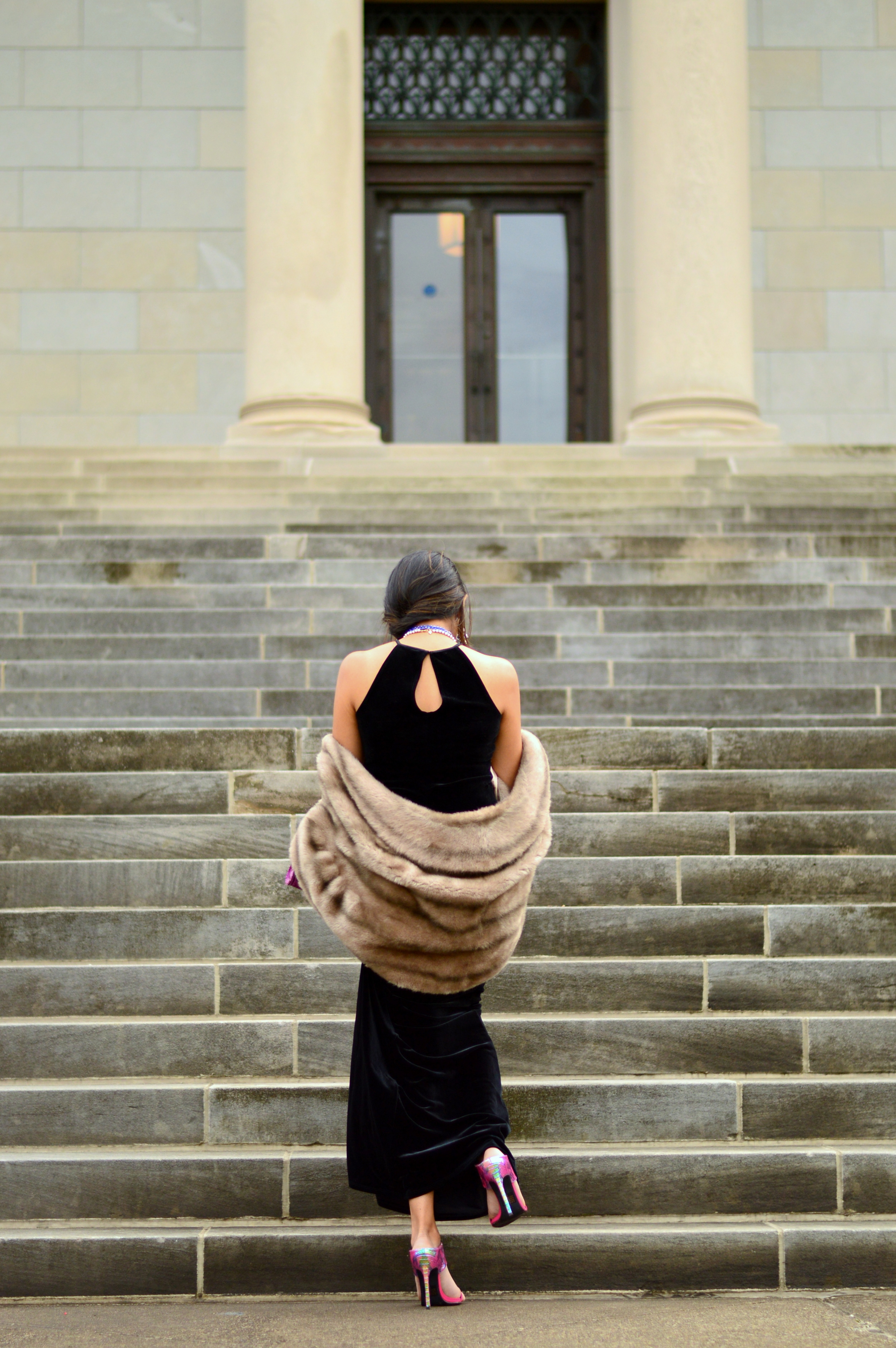 Black velvet maxi dress-NYE outfit 9