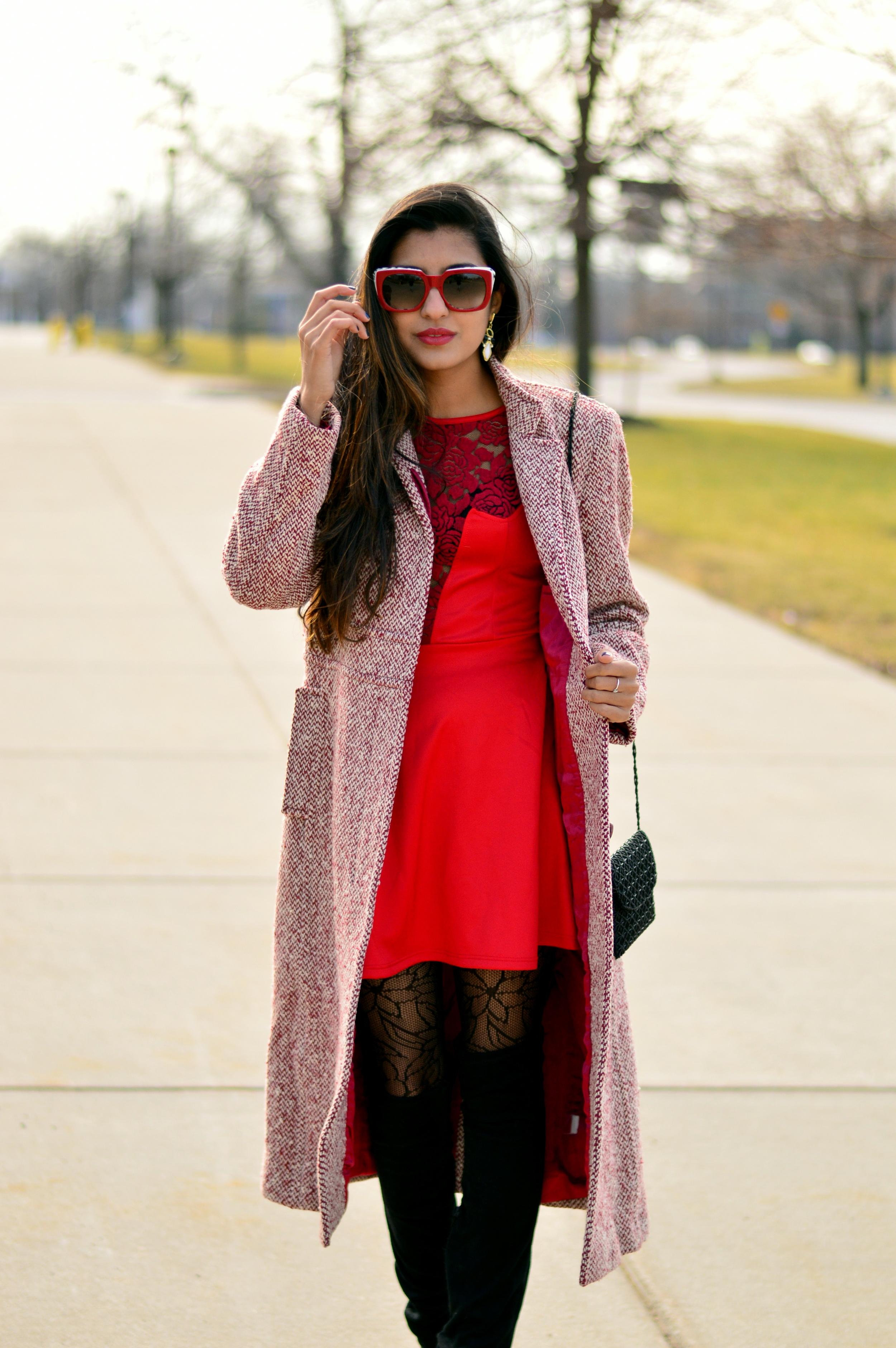 Little red dress-Valentine Day look 5