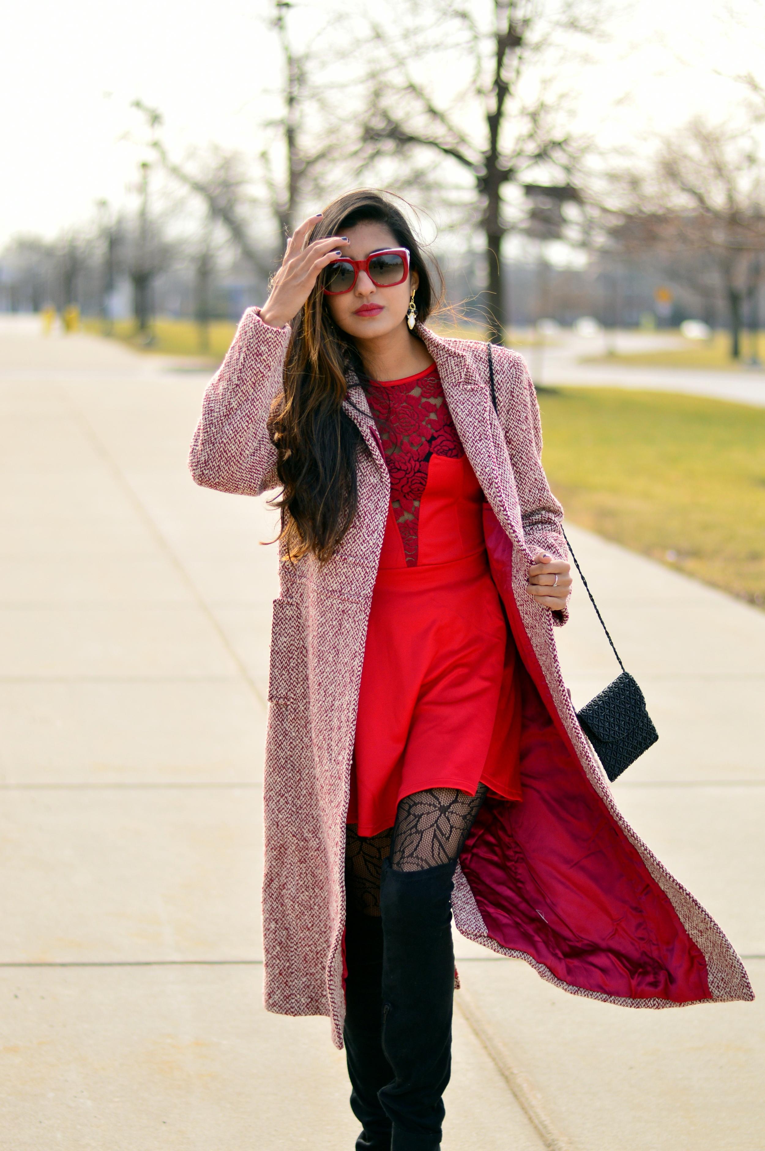 Little red dress-Valentine Day look 7