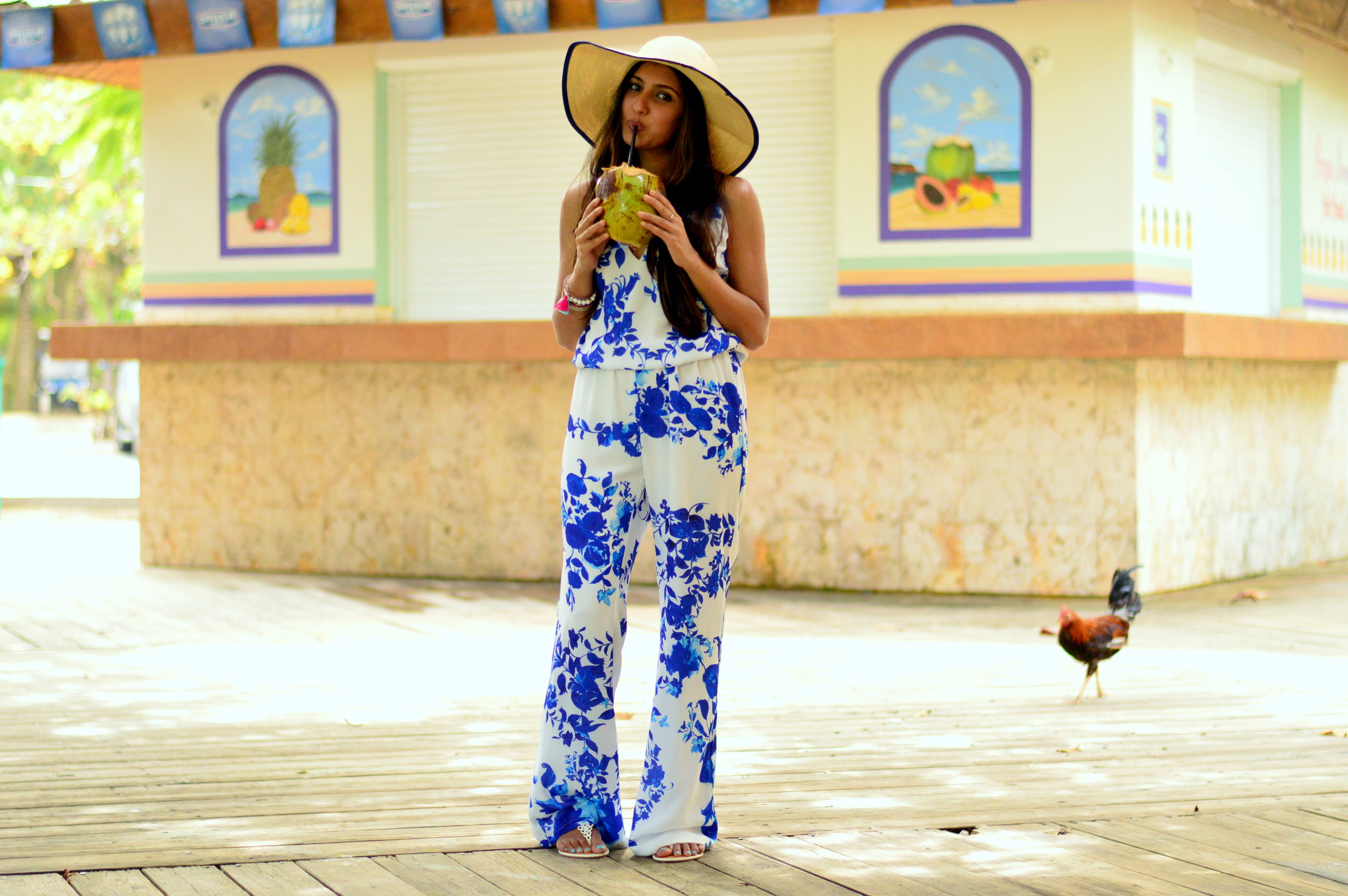 floral-jumpsuit-what-to-wear-island-vacation