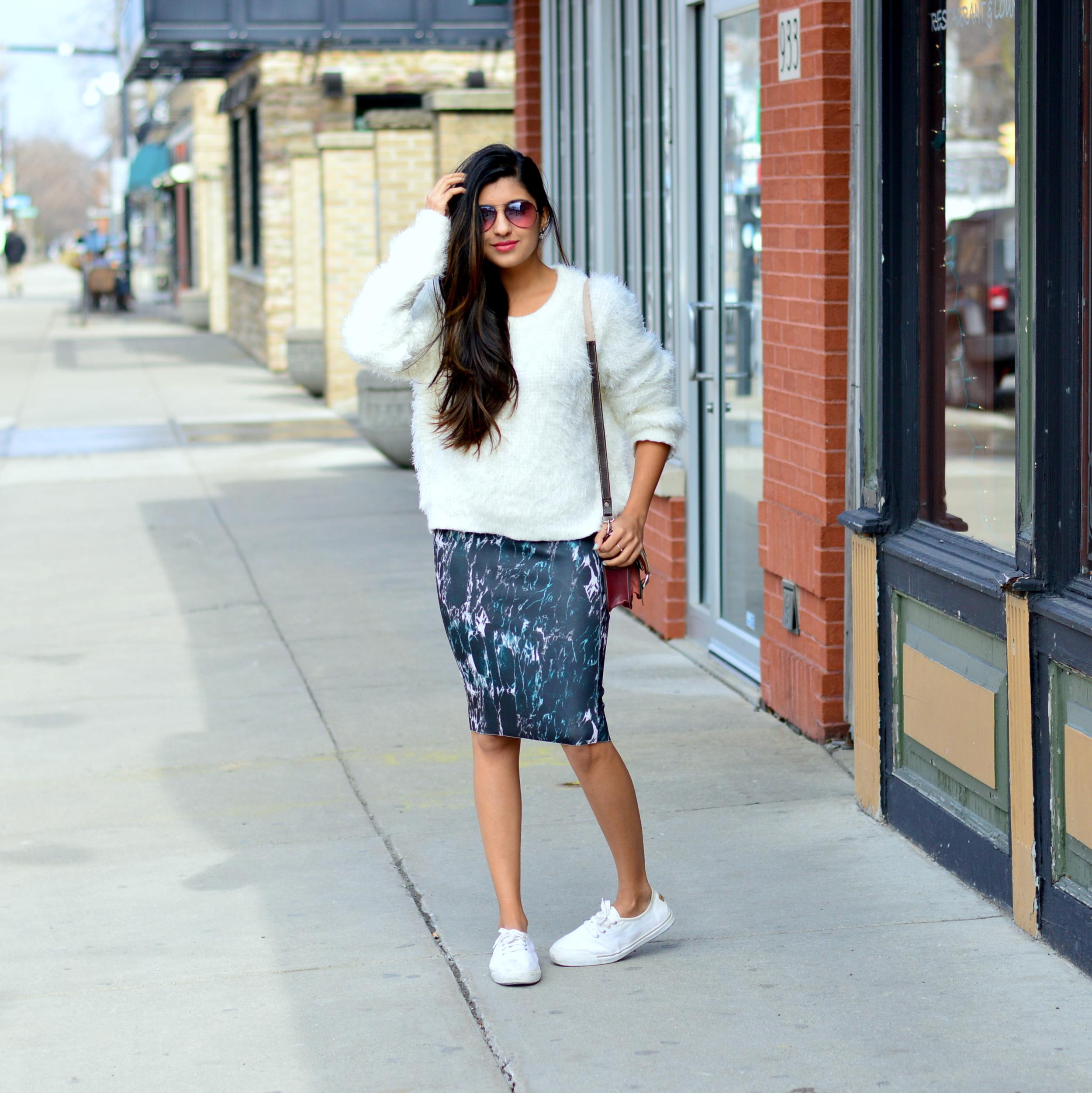 marble-print-pencil-skirt 1
