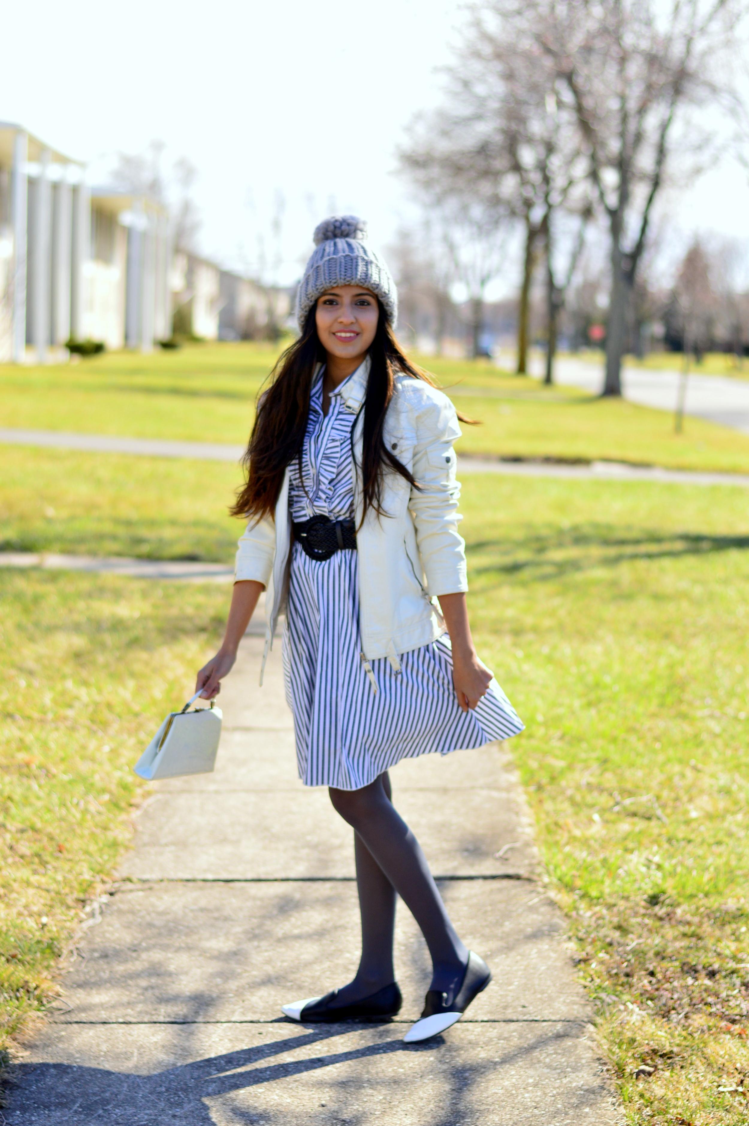 how-to-style-pom-beanie-shirtdress 6