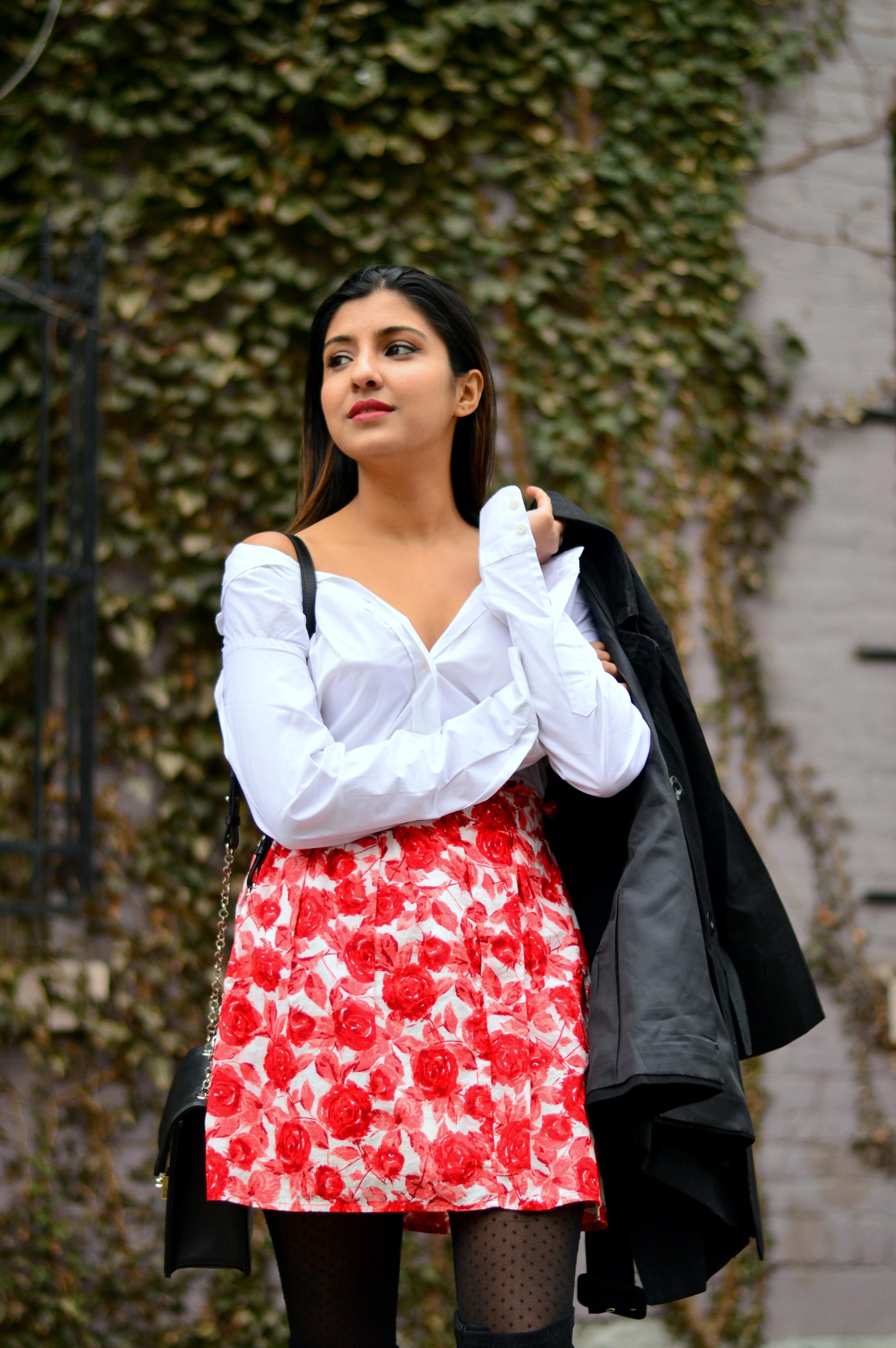 white-shirt-rose-mini-skirt 2