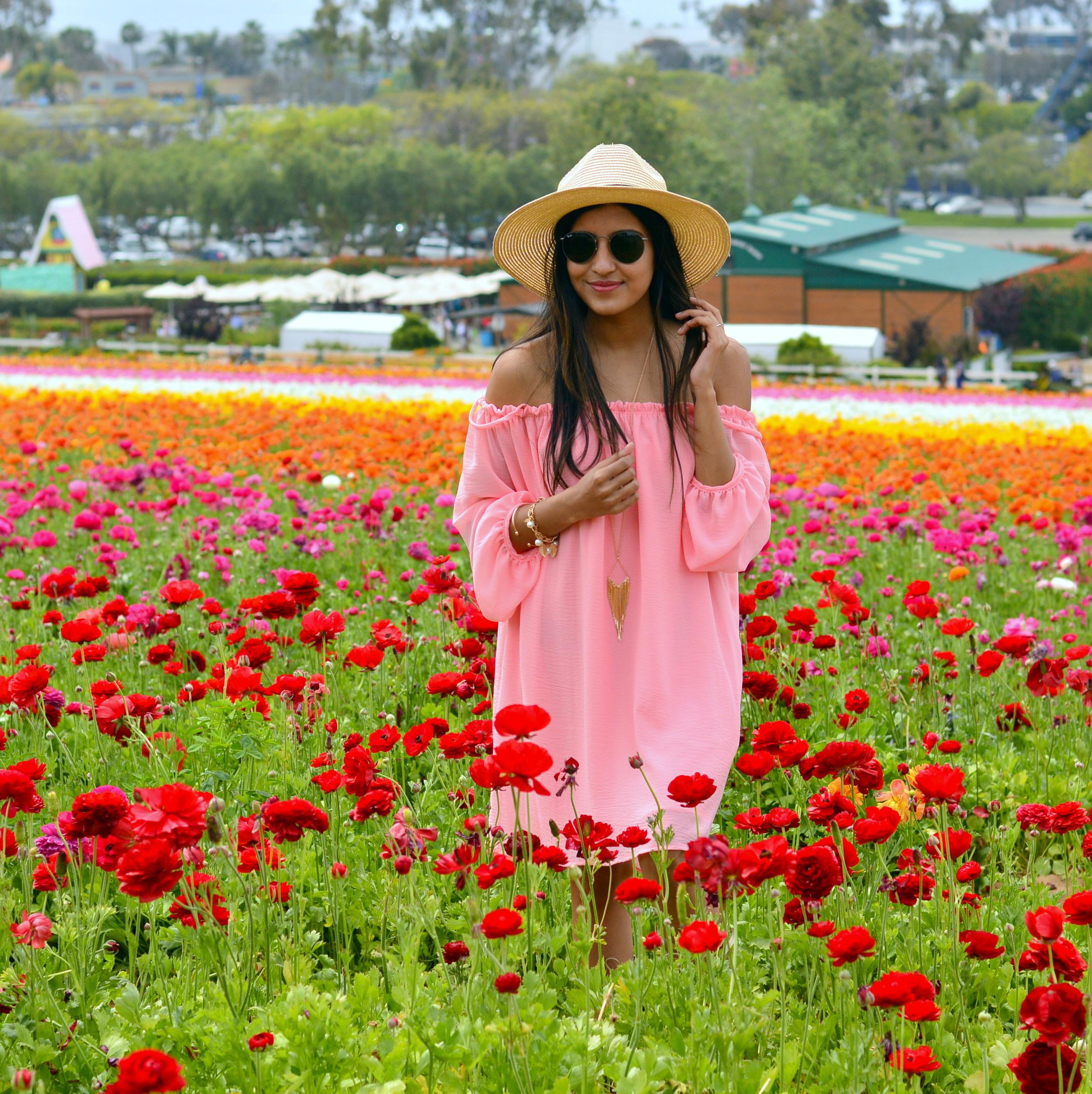 off-shoulder-dress-boho-festival-style-blogger-outfit 2