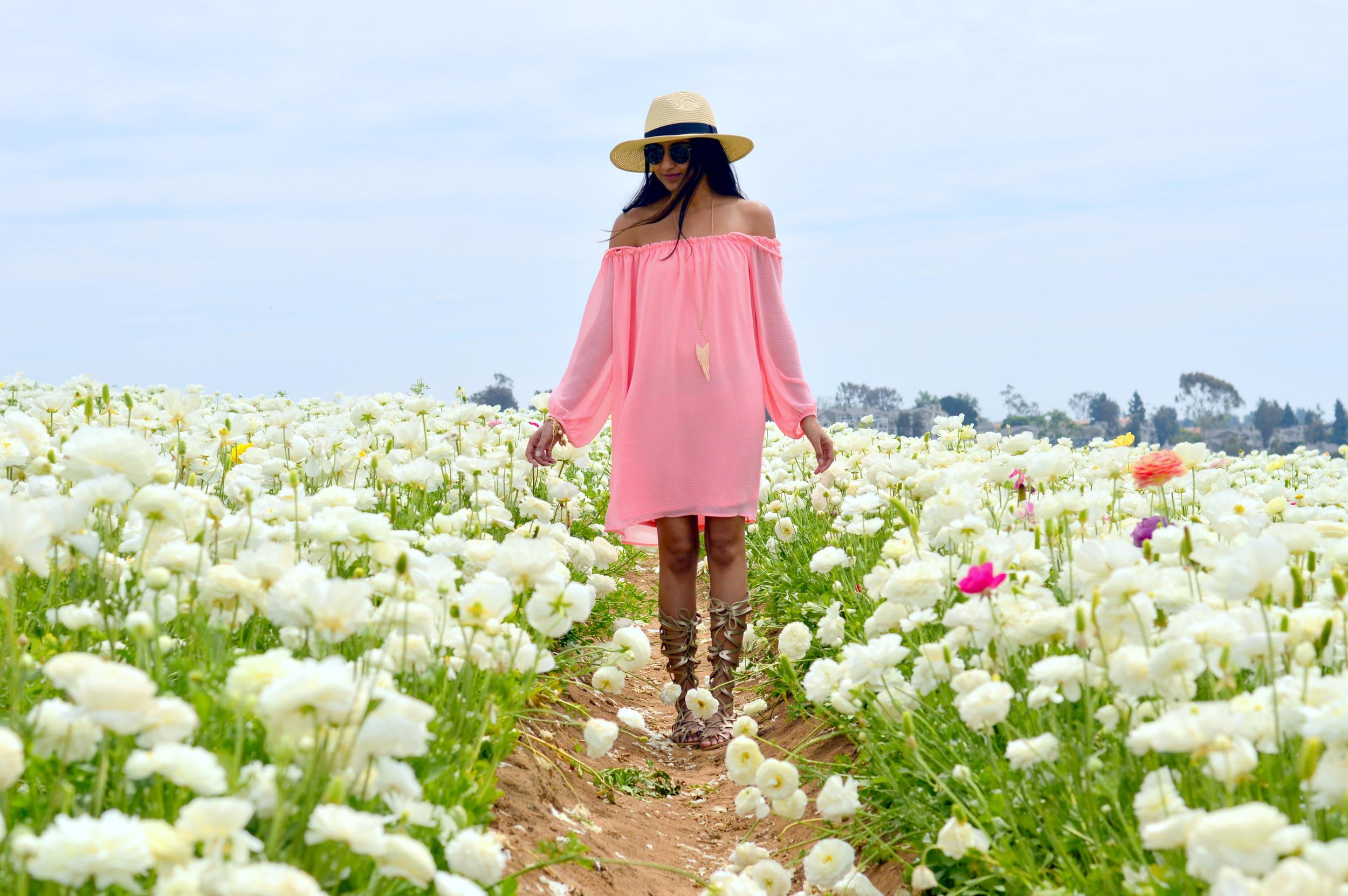 off-shoulder-dress-boho-festival-style-flower-fields 3