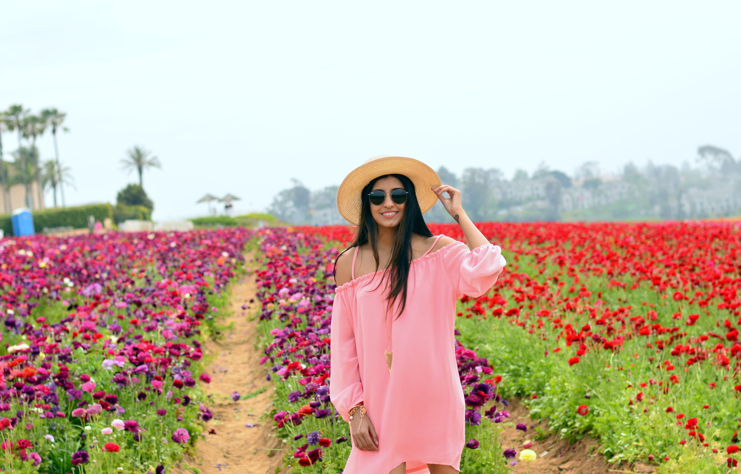 off-shoulder-dress-boho-festival-style-spring-outfit
