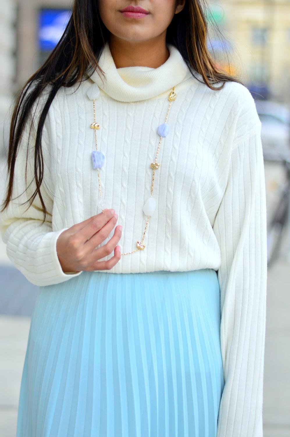 pleated-maxi-skirt-turtleneck-sweater 4