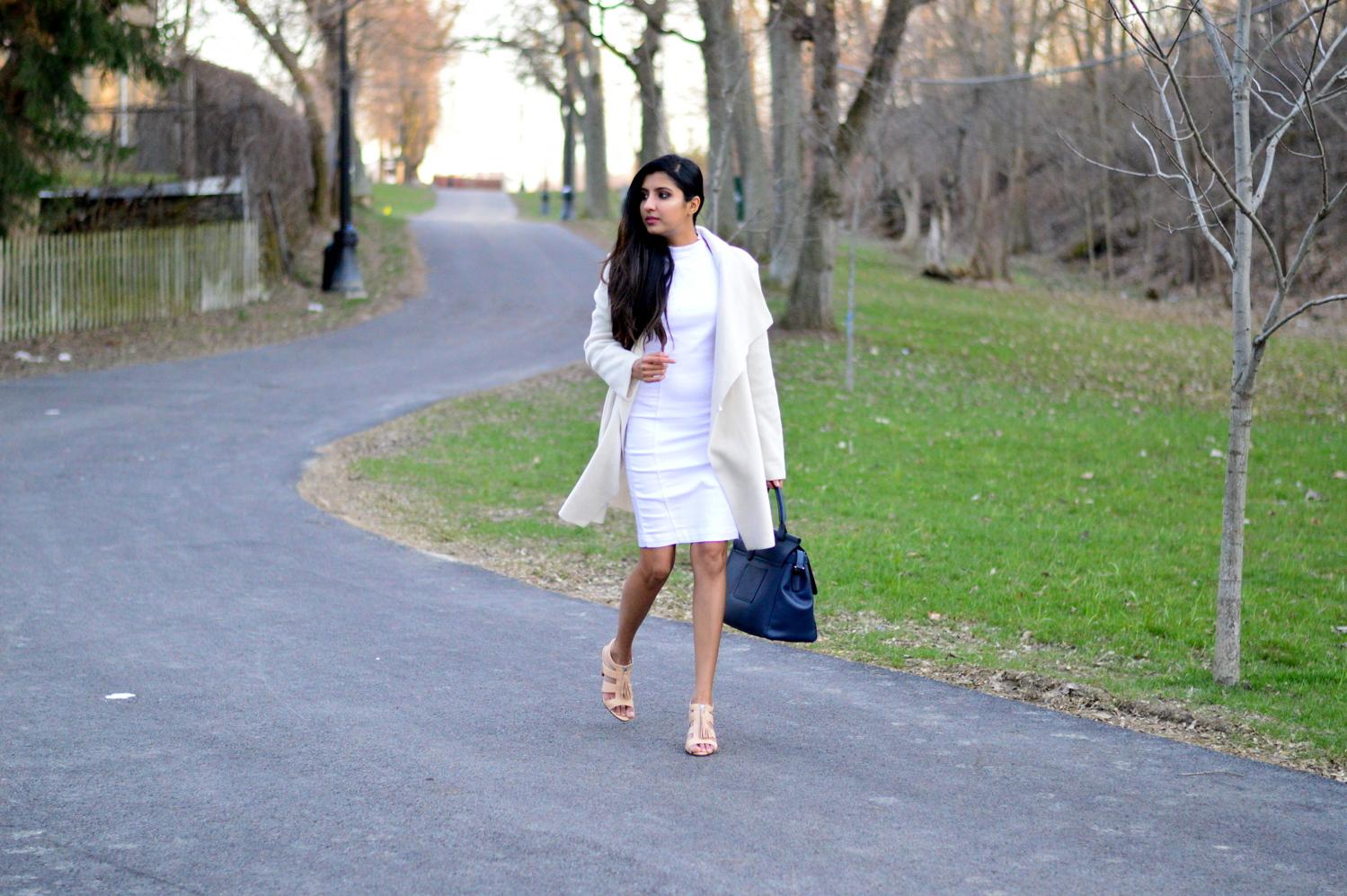 spring-neutrals-white-denim-dress 1
