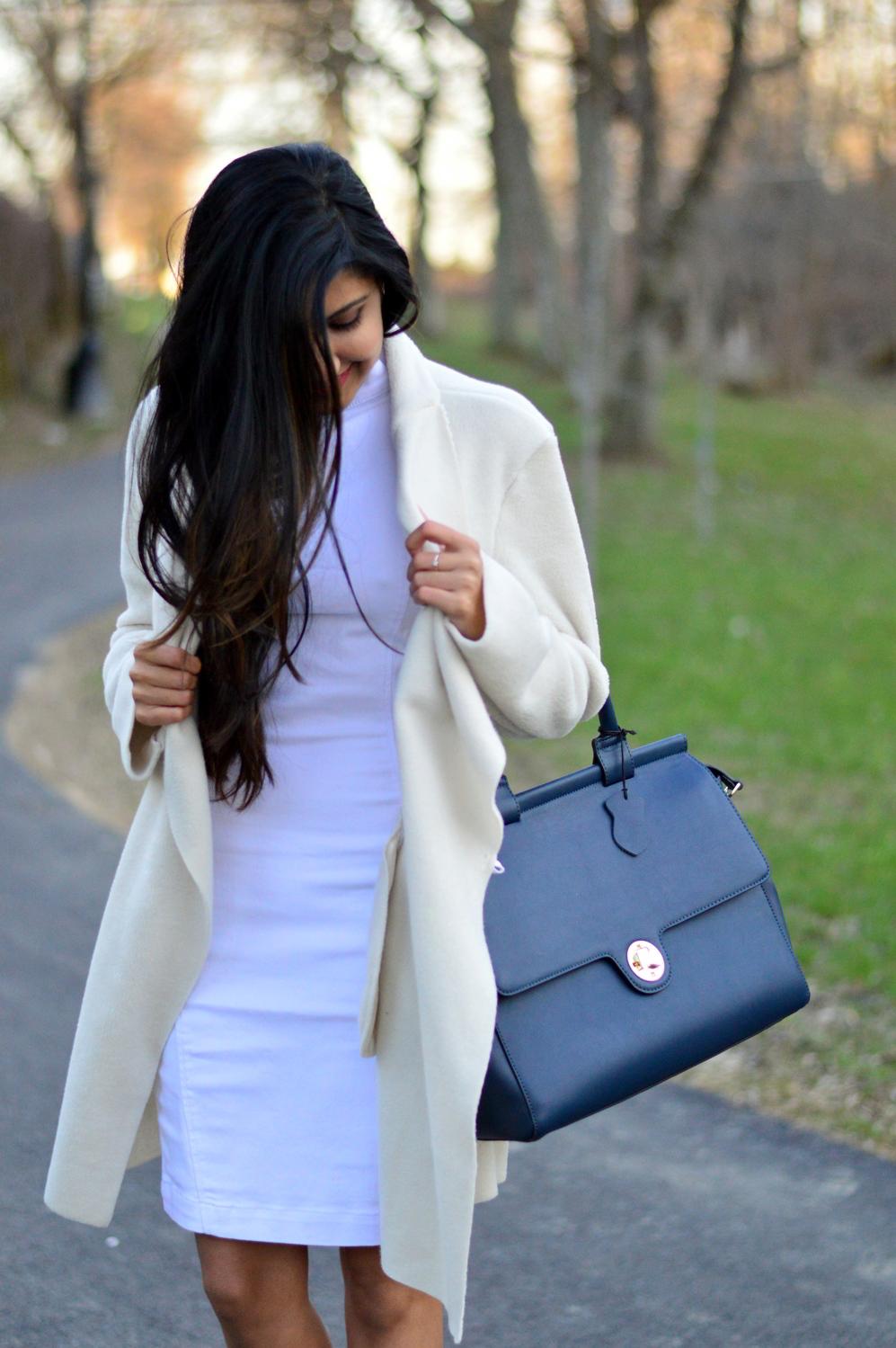 spring-neutrals-white-beige-denim-dress 2