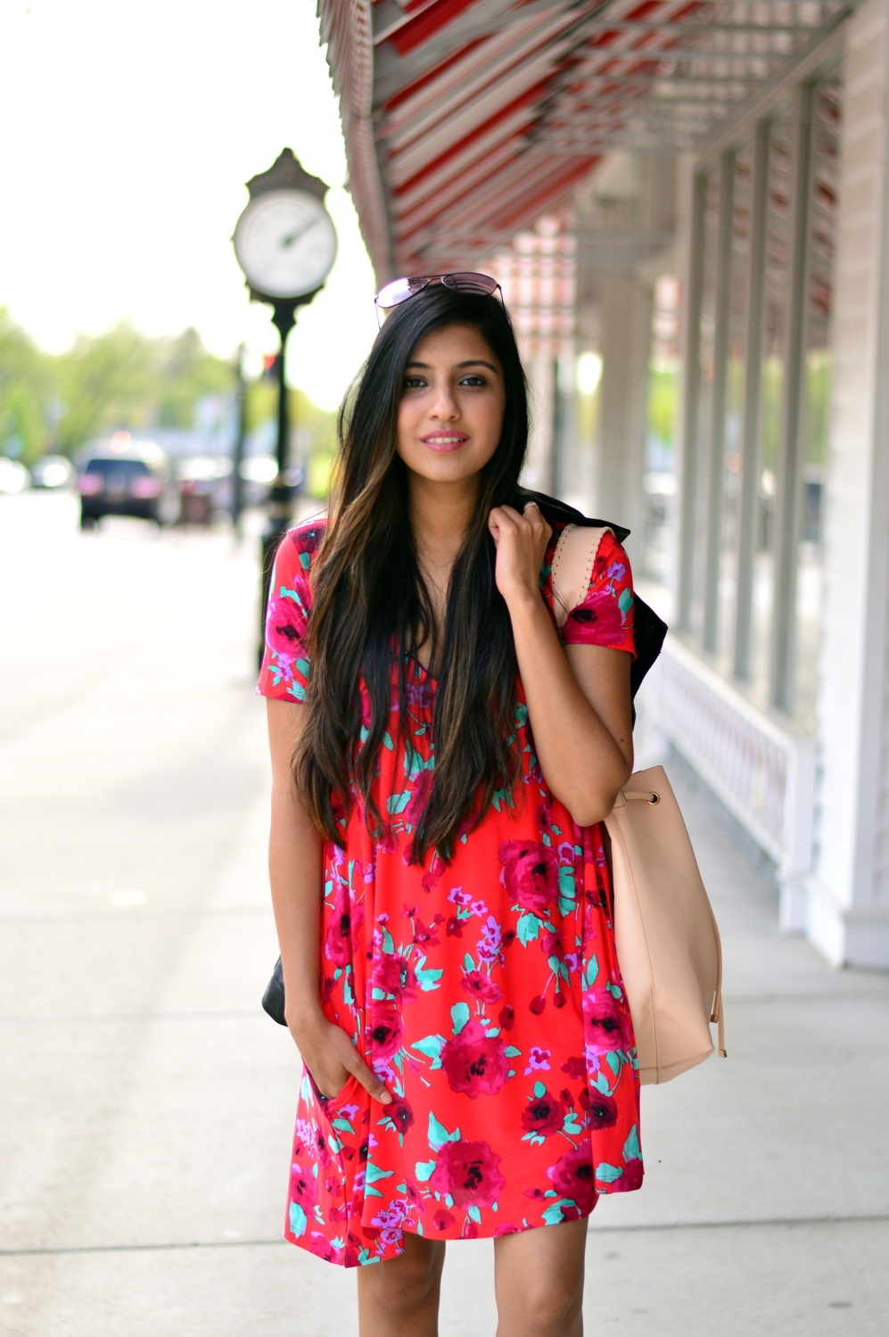 floral-swing-dress-lace-up-flats-spring-style-outfit 8