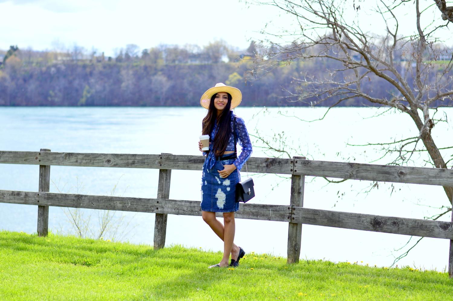distressed-deim-skirt-retro-inspired-florals-outfit-lewiston-new-york-travel 5
