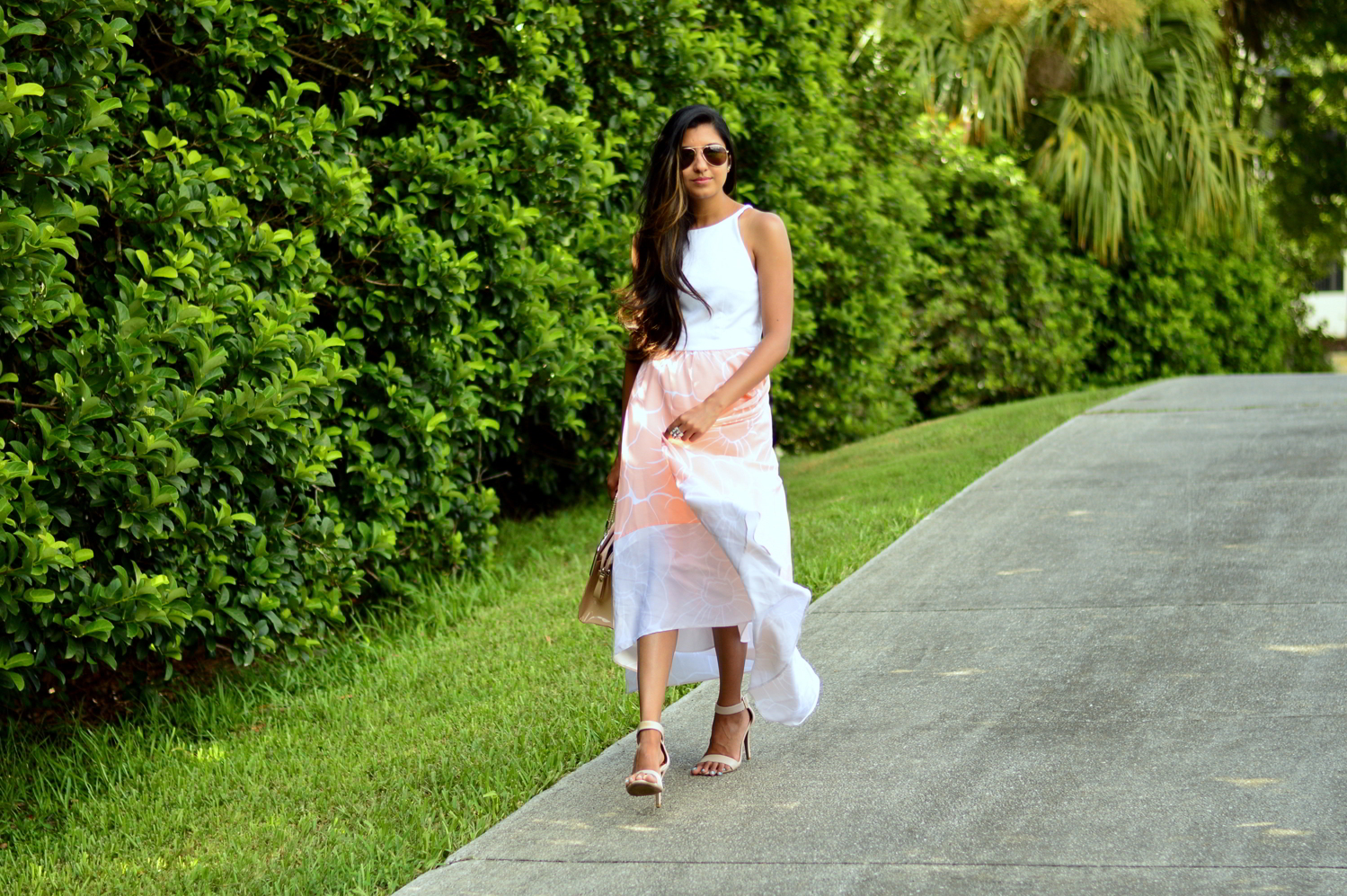 floral-pastel-high-low-dress-summer-blogger-outfit 1