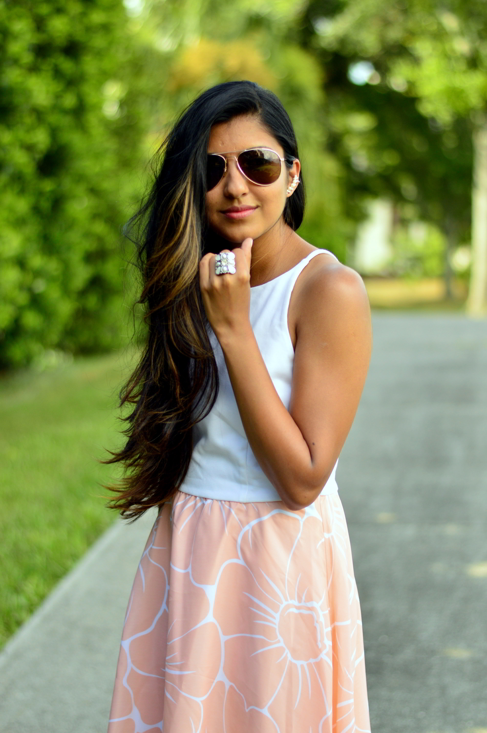 floral-pastel-high-low-dress-summer-blogger-outfit 4