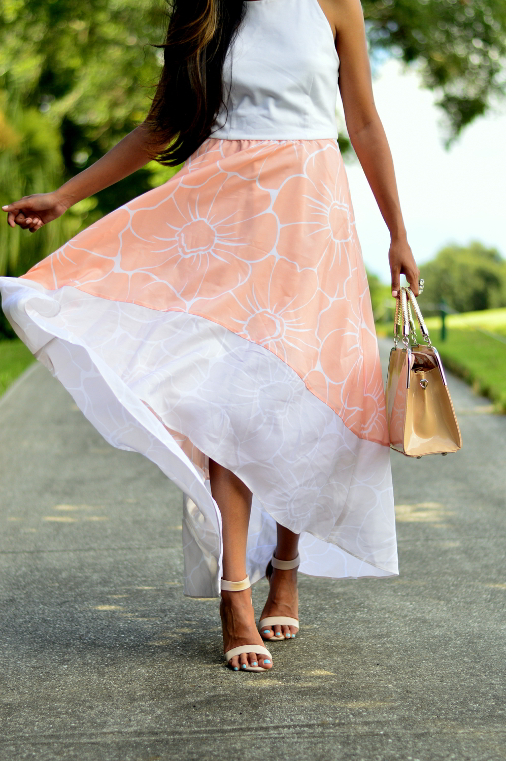 floral-pastel-high-low-dress-summer-blogger-outfit 6