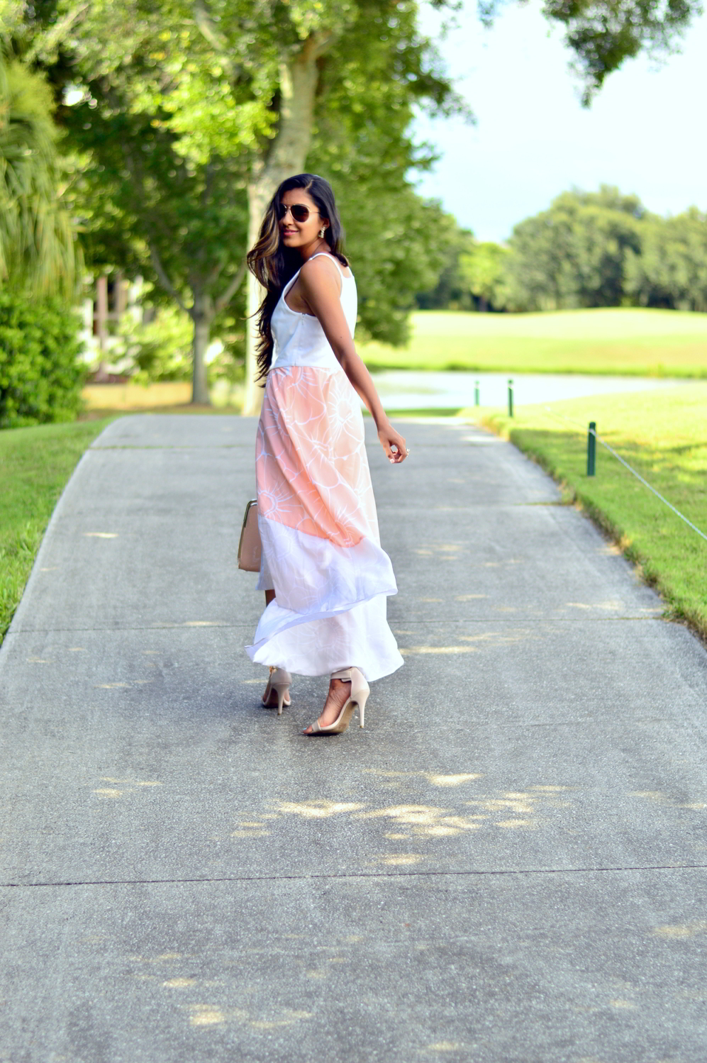 floral-pastel-high-low-dress-summer-blogger-outfit 7