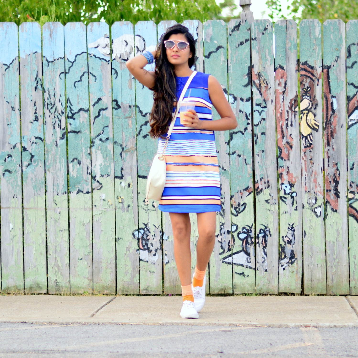 striped-laceup-dress-sneakers-summer-casual-blogger-style 3