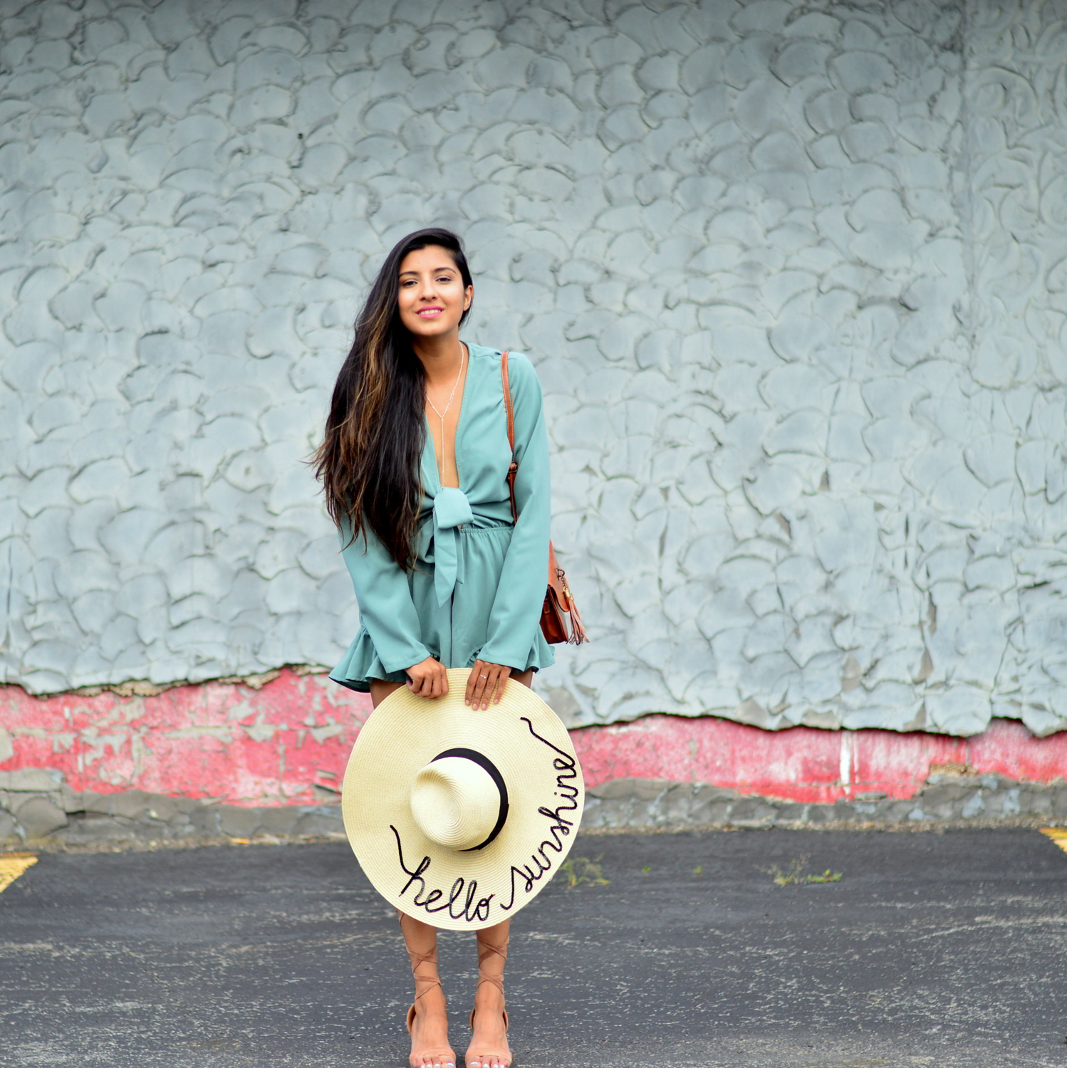 tie-front-romper-playsuit-mint-green-summer-outfit-blogger-style 2