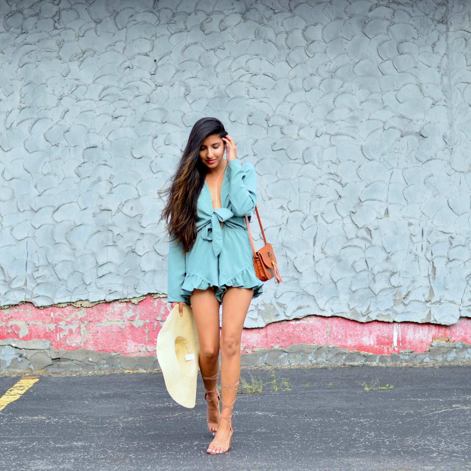 tie-front-romper-playsuit-summer-outfit-blogger-style 3