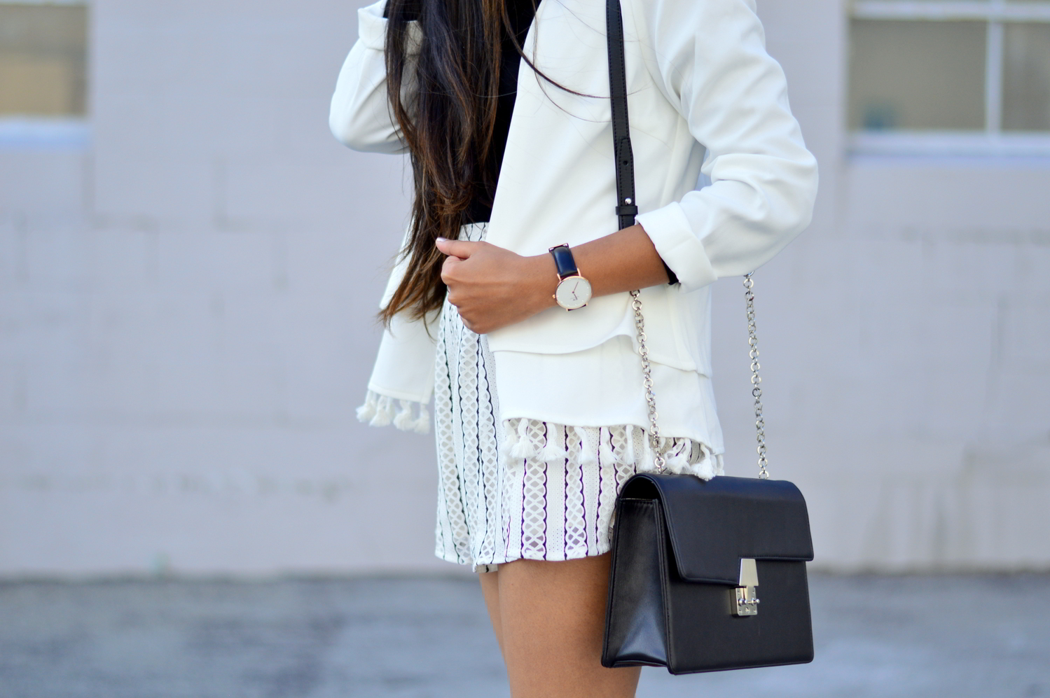 black-and-white-off-the-shoulder-lace-up-shoes-summer-style-tassels 3