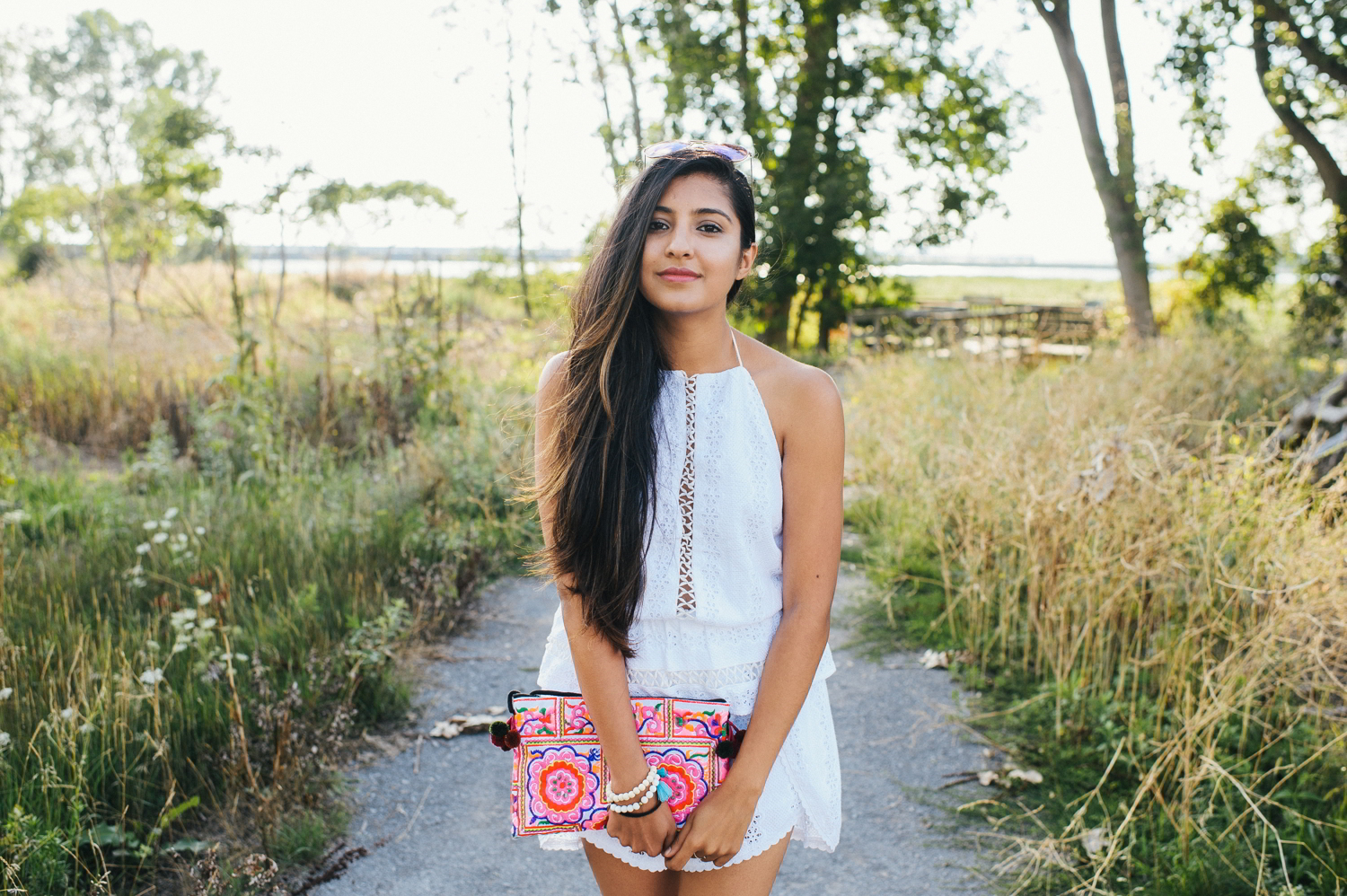 little-white-crochet-romper-late-summer-style-blogger-outfit-lace-up-details 2