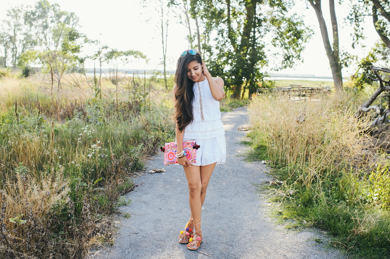 little-white-crochet-romper-late-summer-style-blogger-outfit 5