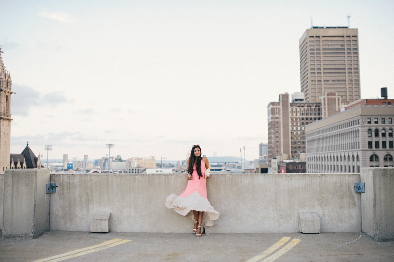 colorblock-maxi-dress-pink-sunset-buffalo-blogger-outfit 1