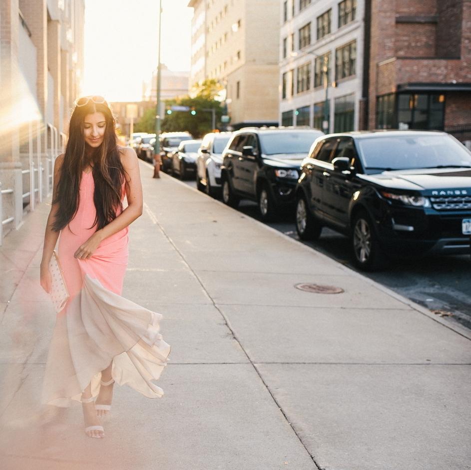 colorblock-maxi-dress-pink-sunset-buffalo-blogger-outfit 3