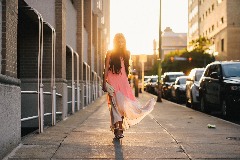 colorblock-maxi-dress-pink-sunset-buffalo-blogger-outfit 9