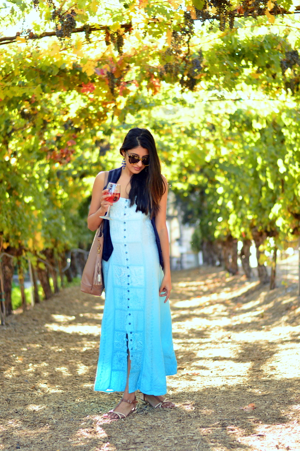 embroidered-maxi-dress-suede-vest-fall-california-blogger-style-outfit 6