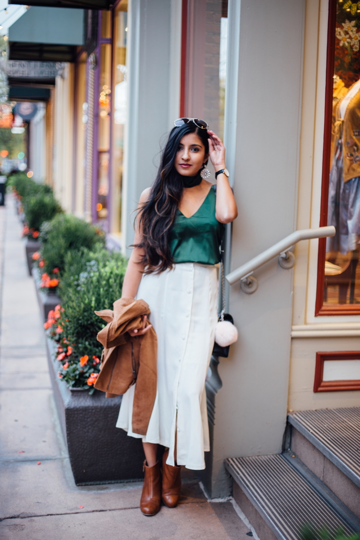 jewel-tones-slip-dress-midi-skirt-winter-white-holiday-style-blogger-outfit 3