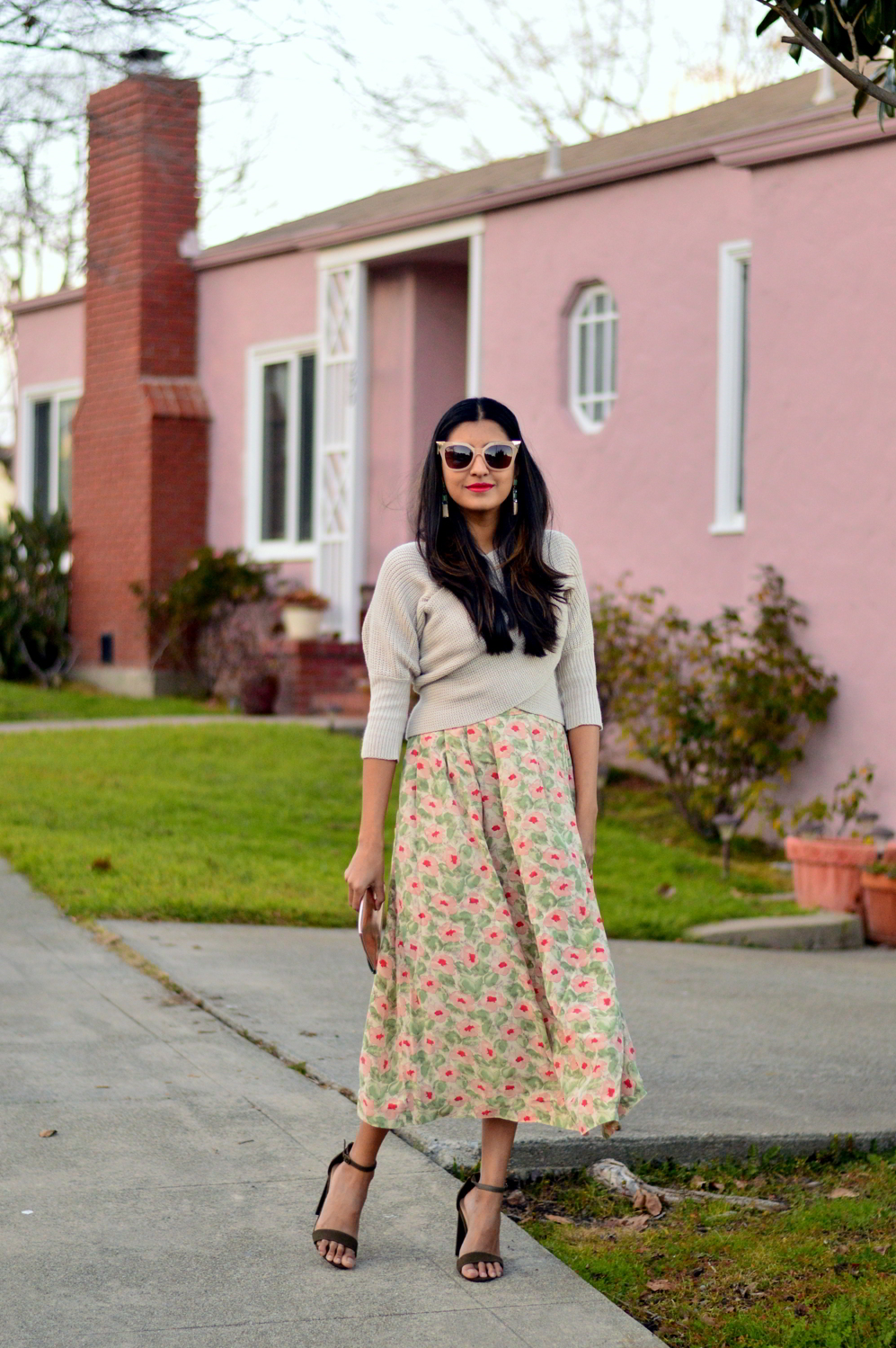 wrap-sweater-cropped-floral-midi-skirt-spring-style-blogger-outfit-olive-heels 5