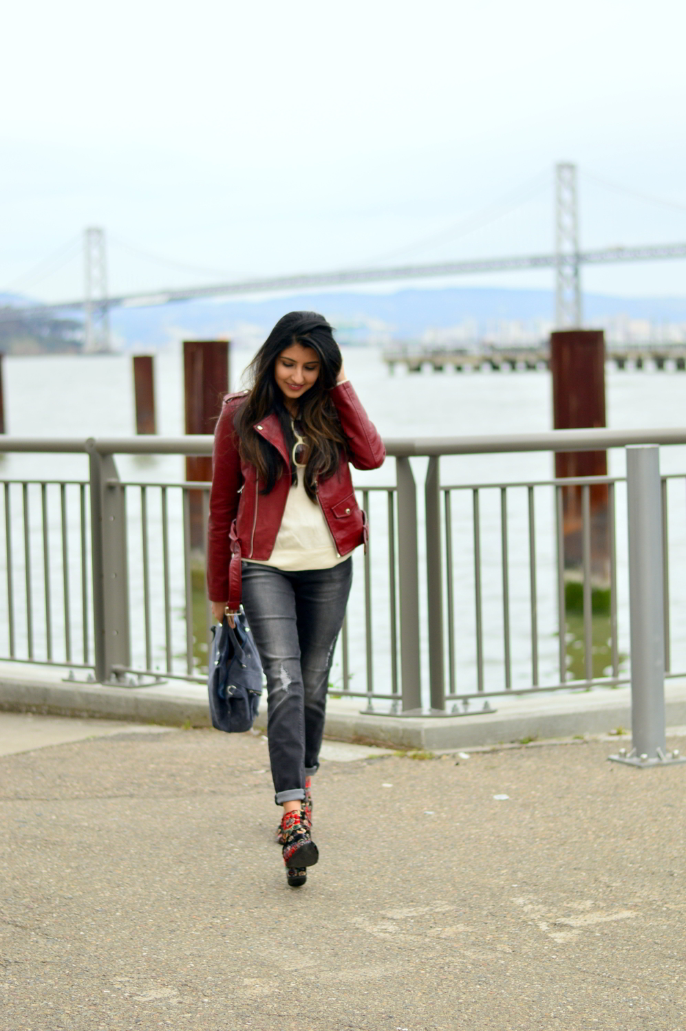 spring-layers-basics-san-francisco-floral-velvet-boots-blogger-outfit 1