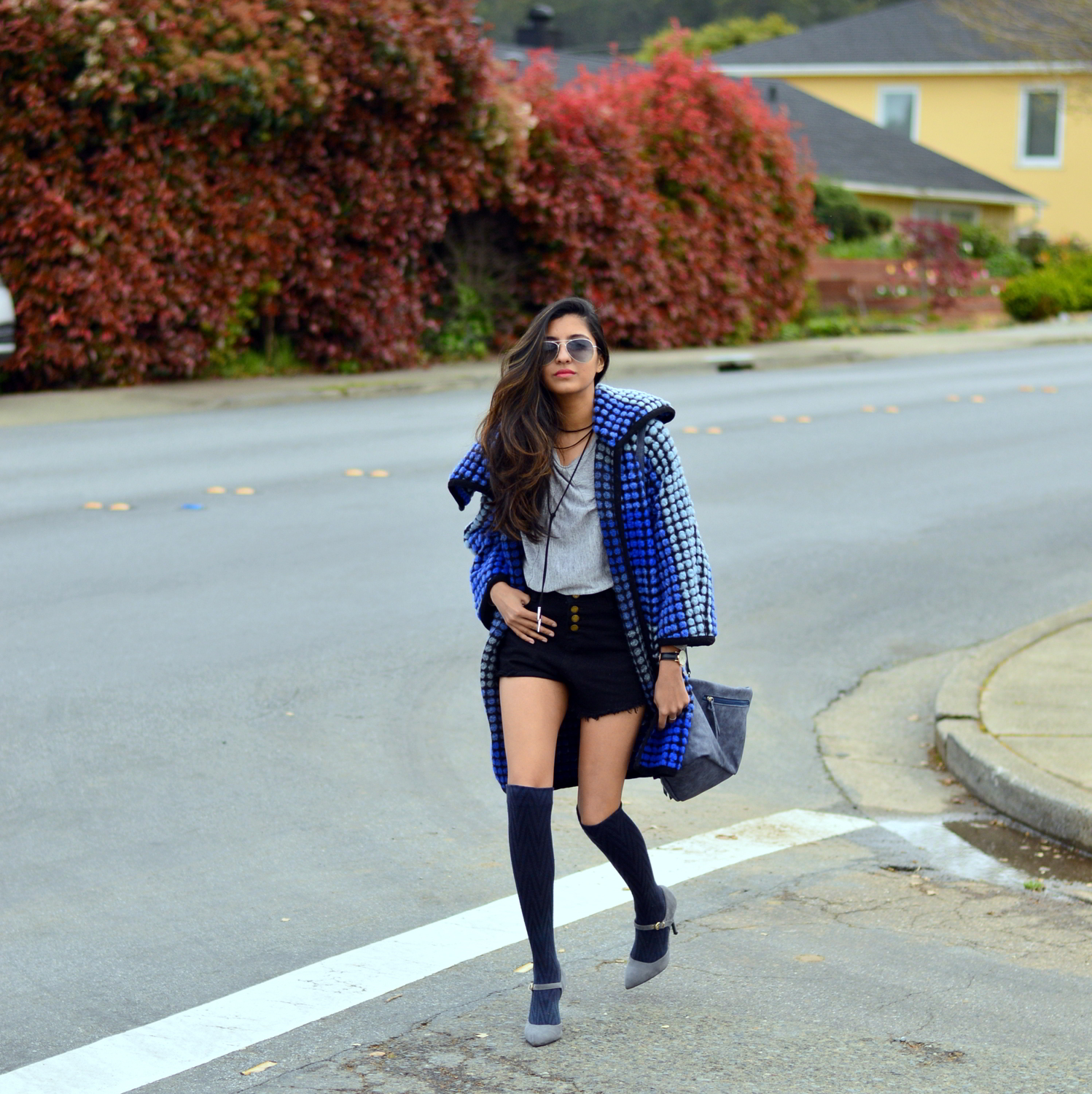 ombre-polka-dots-blue-statement-coat-spring-layers-outfit-blogger 1