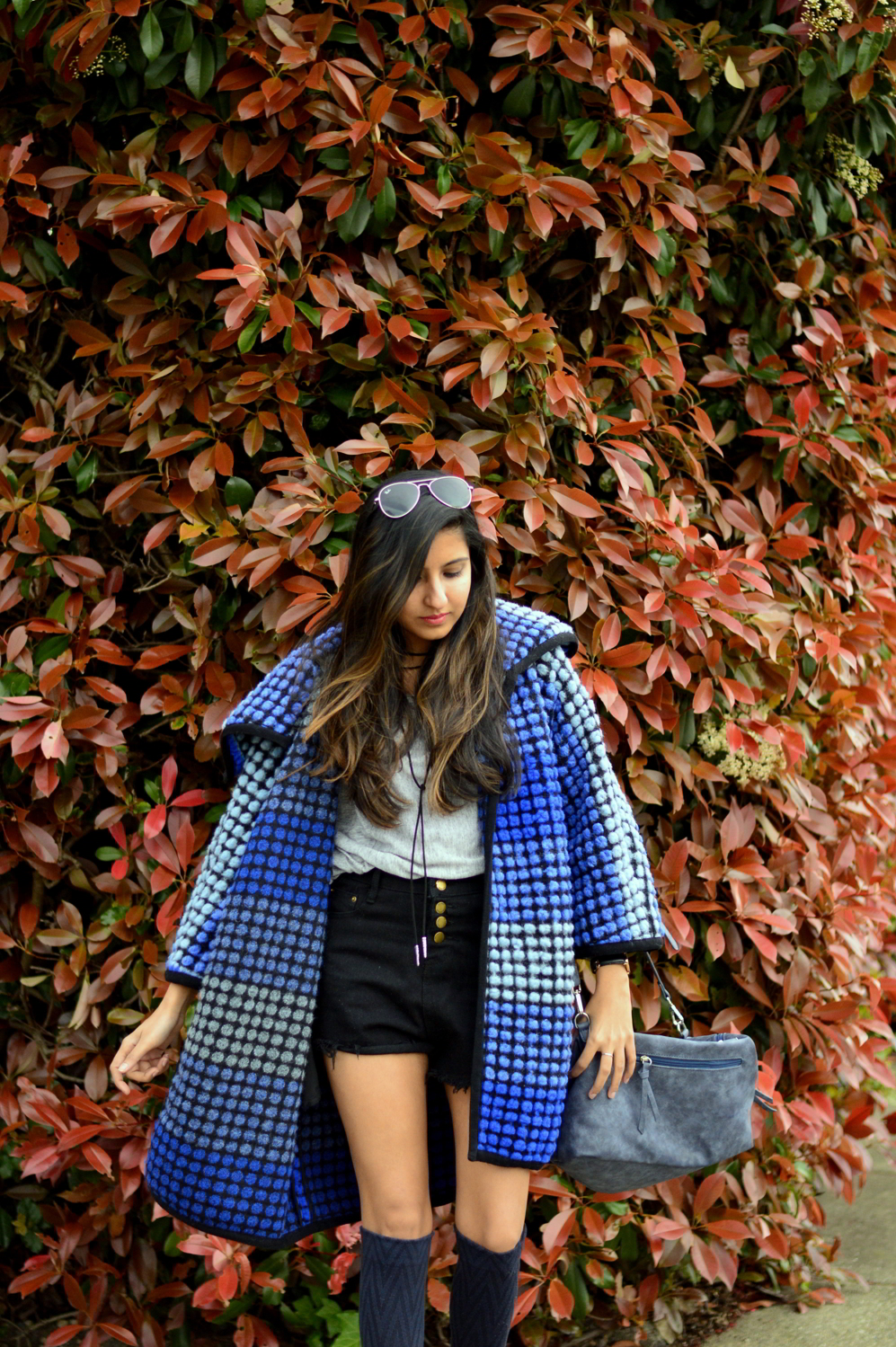 ombre-polka-dots-blue-statement-coat-spring-layers-blogger-fashion 2