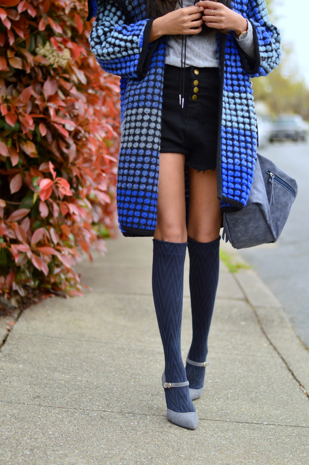 ombre-polka-dots-blue-statement-coat-knee-high-socks-style