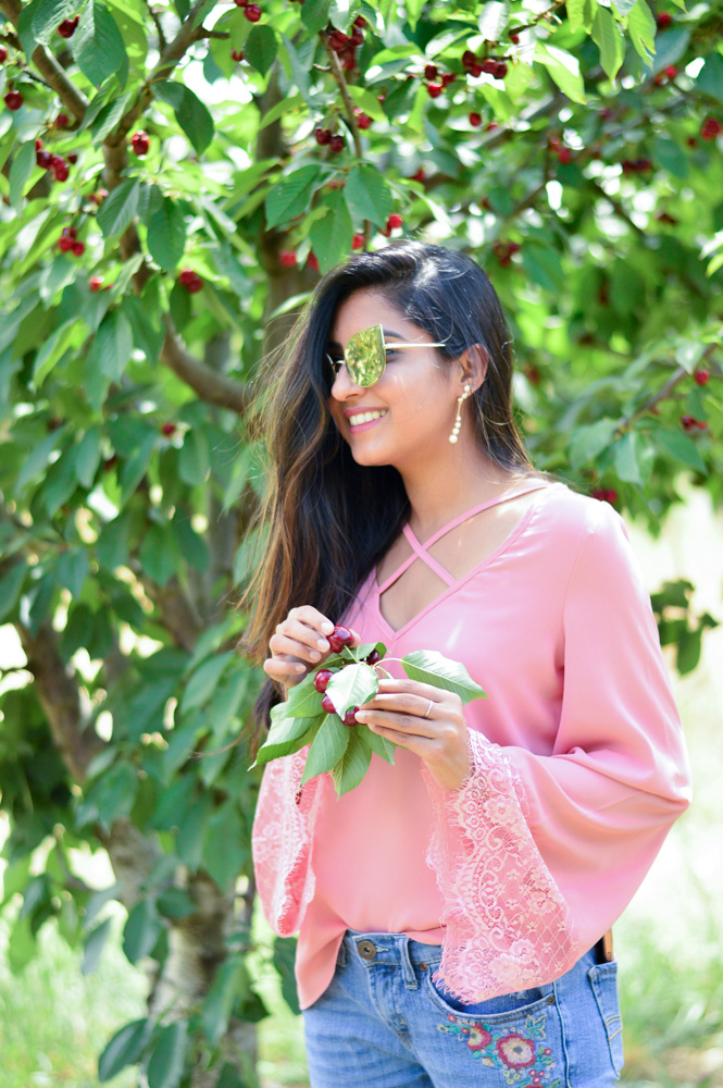bell-sleeves-pink-blouse-embroidered-denim-cherry-picking-brentwood-california 7