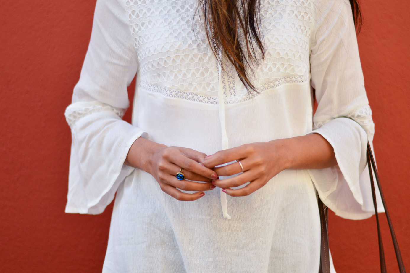 white-bell-sleeves-blouse-blue-denim-gingham-shoes-blogger-outfit-details 7