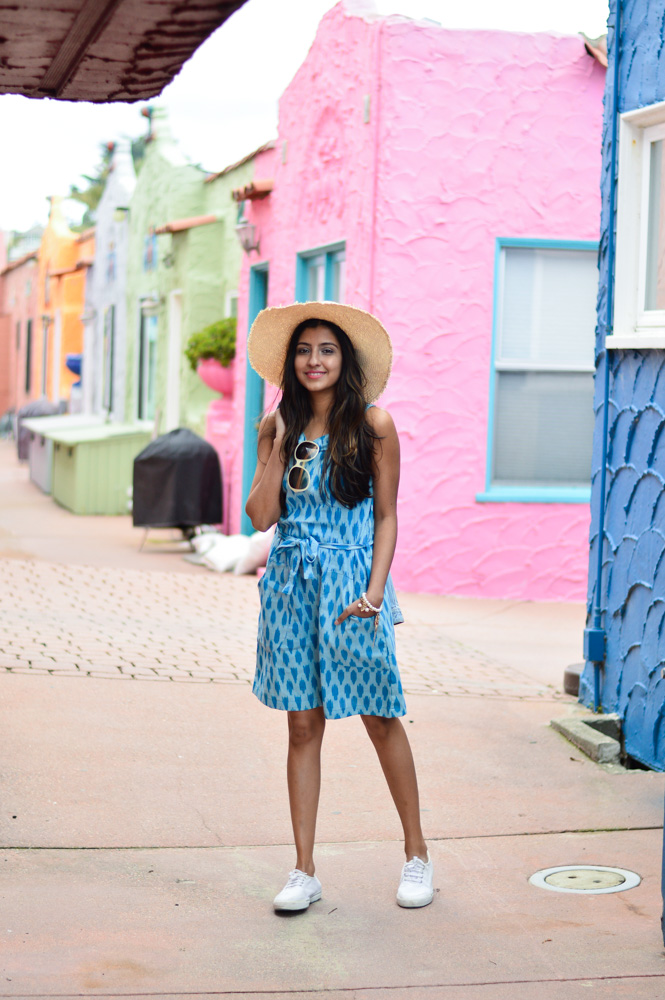 ikat-dress-blue-summer-style-capitola-california-travel-blogger-outfit 3