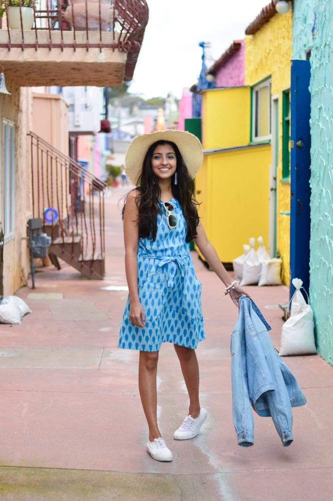 ikat-dress-blue-summer-style-capitola-california-travel-blogger 4