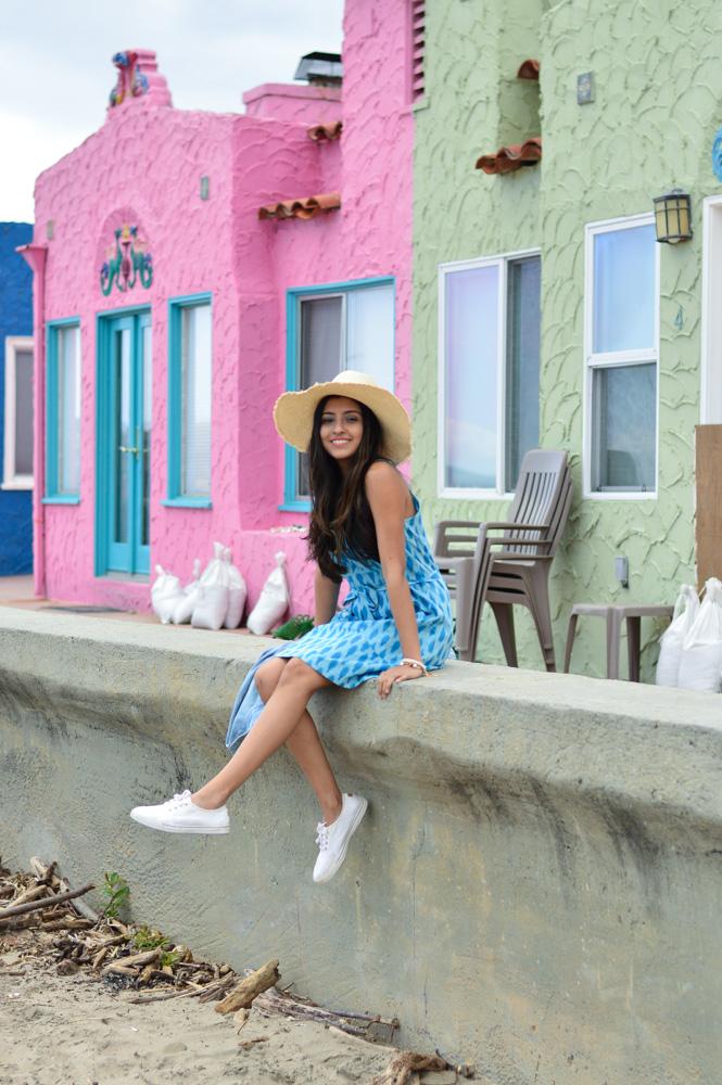 ikat-dress-blue-summer-style-capitola-california-travel-blogger 7