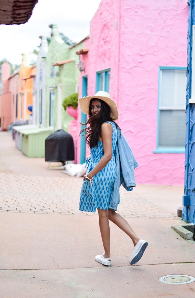 ikat-dress-blue-summer-style-capitola-california-travel-blogger 9