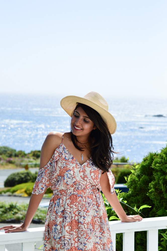 little-river-inn-mendocino-california-travel-blogger-outfit-style-summer-florals-maxi-dress 6