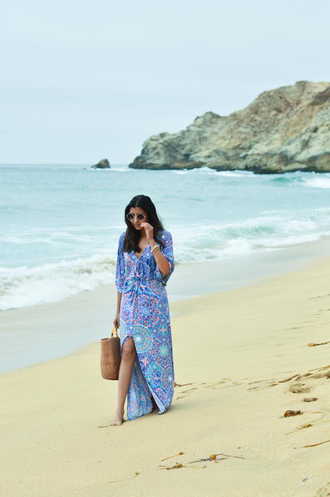 printed-kaftan-dress-beach-resort-vacation-style-california-travel 1