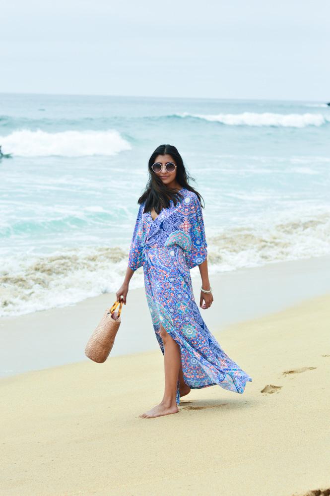 printed-kaftan-dress-beach-blogger-outfit-style-california-travel 6