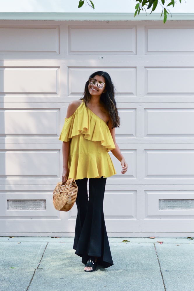 ruffles-mustard-yellow-fall-style-cold-shoulder-top-blogger-fashion 6