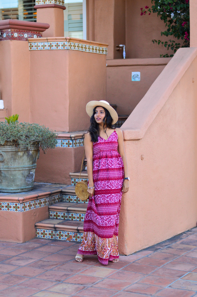 paisley-print-maxi-dress-fall-style-wicker-circle-bag-blogger-outfit 3
