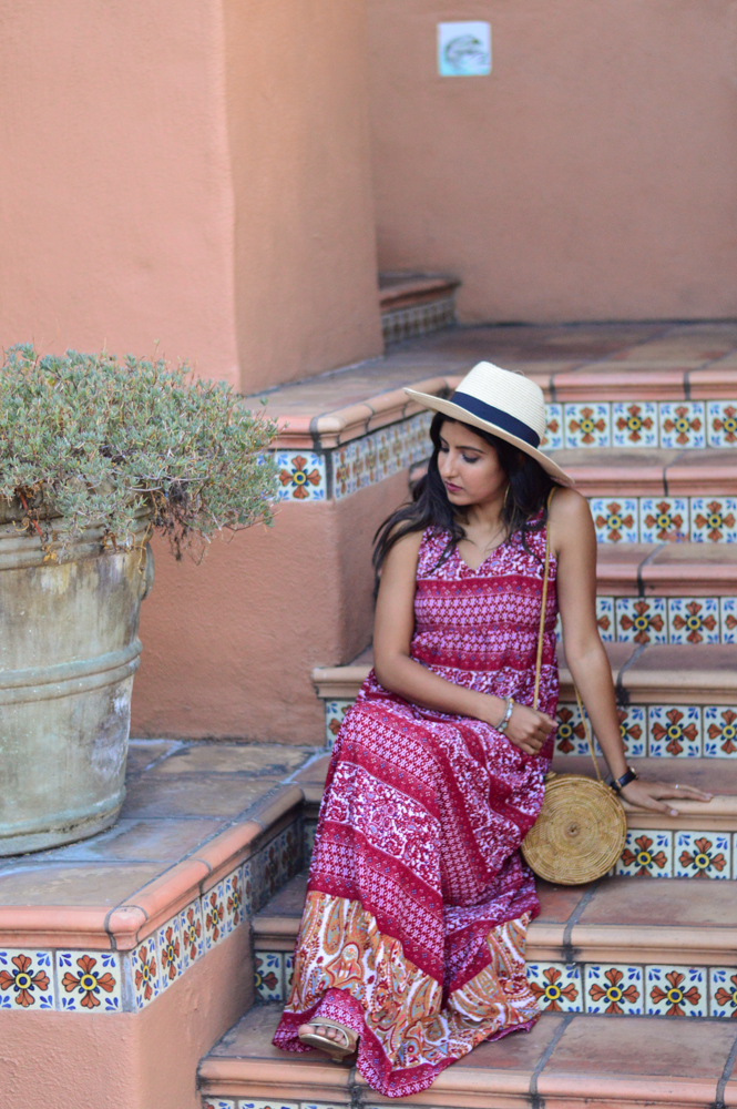 paisley-print-maxi-dress-fall-style-wicker-circle-bag-blogger-outfit 6