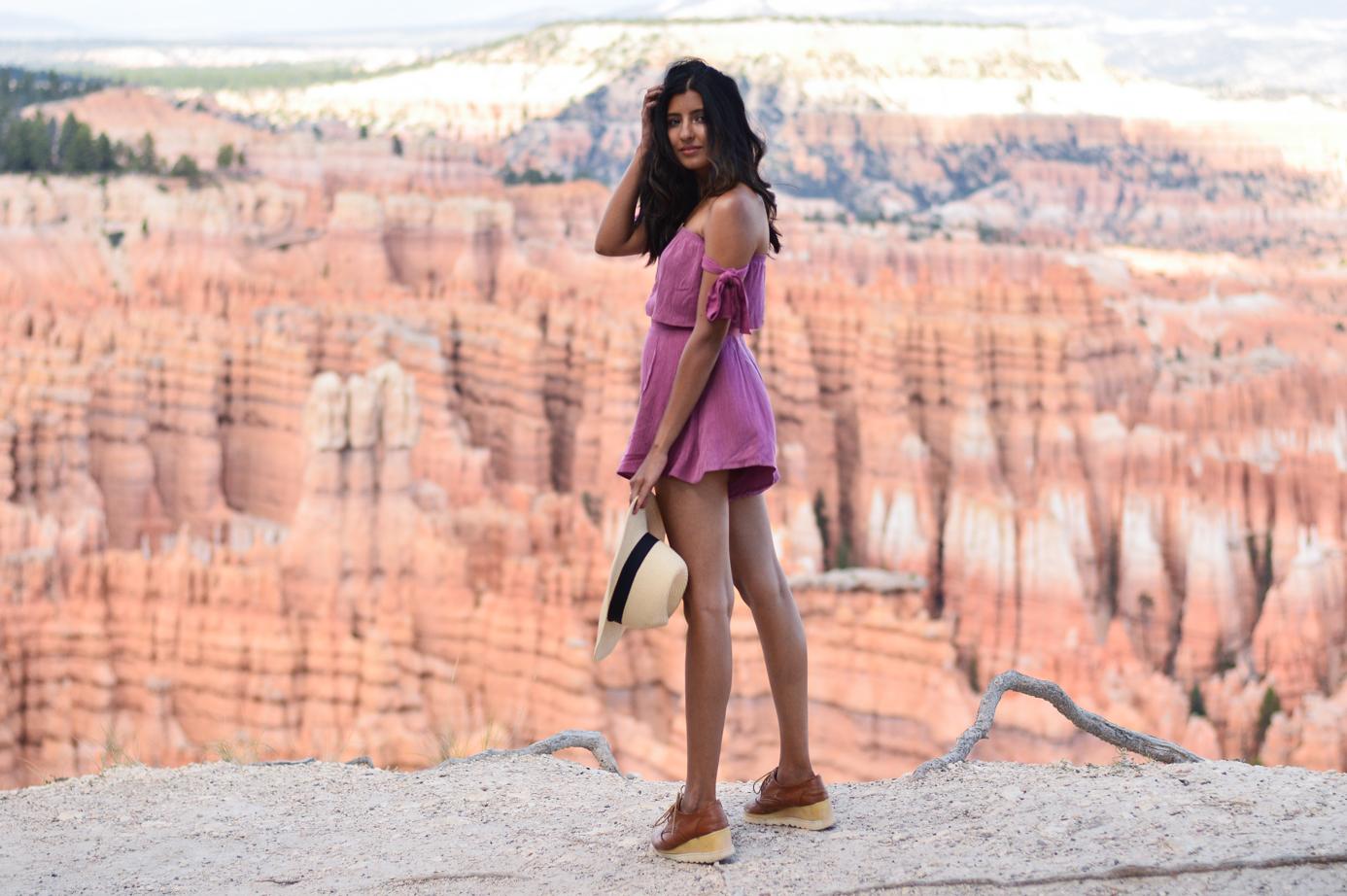 pink-crop-top-shorts-set-bryce-canyon-utah 14