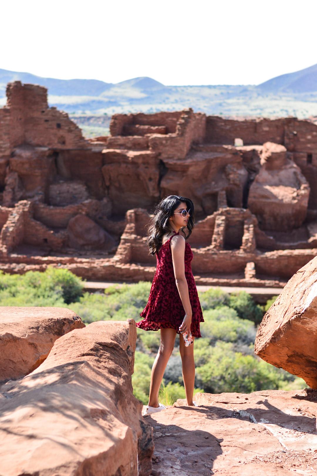 travel-blogger-arizona-long-weekend-itinerary-outfit-wupatki-monument 5